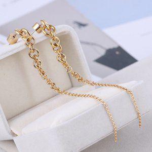 Michael Kors Chain Gold Tassel Earrings